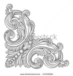 Decoration corner vector - stock vector