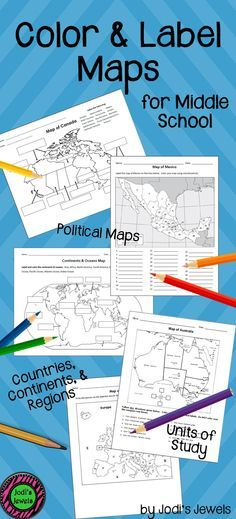 Visit Jodi& Jewels today for color and label MODIFIED maps of countries, continents, and regions created for middle school co-teach, inclusion, and special ed students! Enrich your middle school social studies units today! 6th Grade Social Studies, Social Studies Classroom, Social Studies Activities, History Classroom, Teaching Social Studies, Teaching Map Skills, Teaching Maps, 8th Grade History, Study History