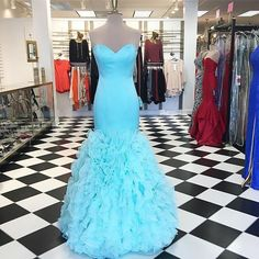 Charming Long Evening Dress, Ruffles Mermaid Prom Dress,Formal Evening Dresses,Women Dress by fancygirldress, $175.00 USD