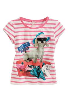 Buy Pink Stripe Dog Top (3-16yrs) from the Next UK online shop