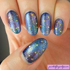 Painted Fingertips | Galaxies for the Digital Dozen January Birthdays