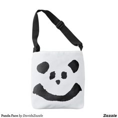 Panda Face Cross Over Tote Bag  Available on more products! Type in the name of the design in the search bar on my Zazzle Products Page. Thanks for looking!   #bag #tote #accessory #carry #get #around #shopping #fun #zazzle #buy #sale #cute #cuddly #panda #bear #cartoon #illustration #black #white #drawing #nature #planet #earth #animal #friend