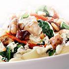 Een heerlijk recept: Penne met kip spinazie en champignons