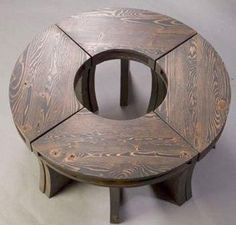 wooden donut-shaped table - Google Search