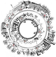 Savona Bike Sharing. Illustrazioni di Strambetty.