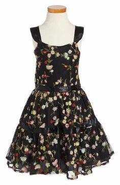 Nanette Lepore Embroidered Mesh Dress (Big Girls)