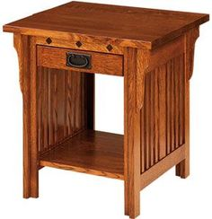 Craftsman End Table Amish Outlet Diamond Mission In Oak Style