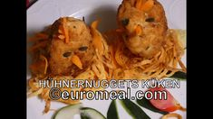 Hühnernuggets Küken - euromeal.com Chicken Nuggets, Kraut, Food, Kid Cooking, Recipes For Children, Meat, Spices And Herbs, Carrots, Easy Meals