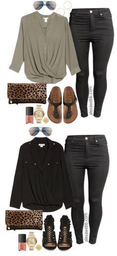 Plus Size Black Jeans Outfits - Plus Size Fashion for Women - alexawebb.com #alexawebb #plussize