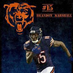#15 BRANDON MARSHALL Brandon Marshall, Bears Football, Chicago Bears, Blue Orange, Monsters, Sports, Navy, Hs Sports, Hale Navy
