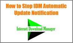 Sometimes Internet Download manager auto update check is an annoying notifier. Lets know How to Stop or Disable IDM Automatic Update Notification forever.