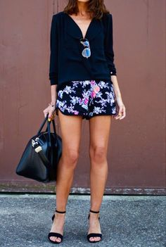 Casual summer outfit. With flat sandals or heels... Would be perfect for brunch