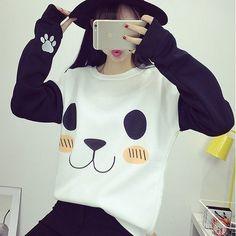 Blusa de Frio em Moletom Happy Panda - Miss Lully
