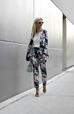 3634600354e3e THE NOMIS NICHE BLOG · floral, suit, pantsuit, light blue, bag, vipme,  asos, forever