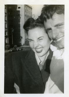 vintage couple selfie