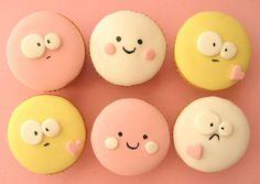 Yummy, adorable faces cupcakes. Delicious!
