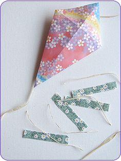 Easy Origami Kites Step 4