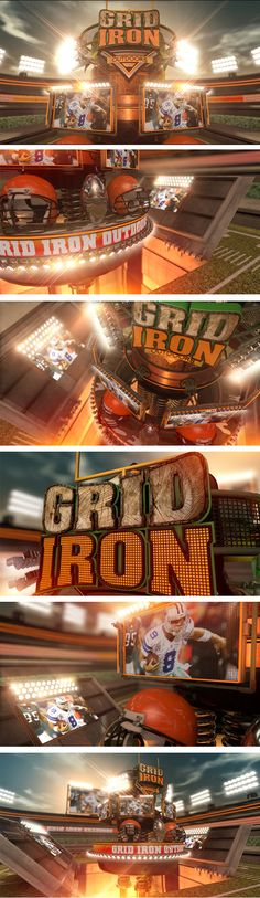Gridiron Outdoors Show Opener by Already Been Chewed , via Behance