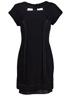 Rag  Bone  structured black dress.