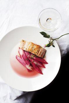 salmon rhubarb / /suvi sur le vif