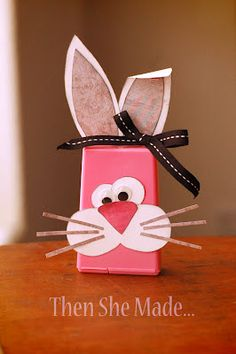 Cute gum bunni, ice cubes, easter crafts, bunny crafts, box, baskets, craft ideas, spring crafts, kid