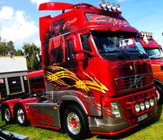 Customised artwork Volvo FH at the Elmia Truck Show in Sweden today
