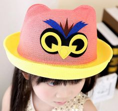 Best price on Fashion Summer Hat Cap For Girls Cartoon Owl Print //    Price: $…