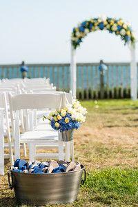 Cape Cod Wedding, Our Wedding, Flip Flop Basket, Wedding Ceremony Flowers, Outdoor Venues, Nautical Wedding, Hydrangeas, Blue Flowers, Type 3