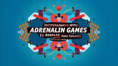 Фирменный стиль и сайт зимнего фестиваля Adrenalin Games 2013 — Студия Just Be Nice