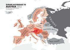 Vi siete mai chiesti come ci vedono i francesi? O gli inglesi? O come noi vediamo il resto d'europa? Le mappe degli stereotipi europei.