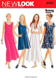 New Look Sewing Pattern 6352 Misses Dresses, Size A (8-10-12-14-16-18) Simplicity Creative Group Inc - Patterns http://www.amazon.com/dp/B002L7XIRC/ref=cm_sw_r_pi_dp_xLMWwb0XGHRK3
