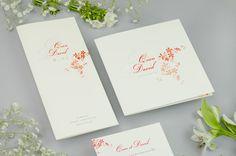 Faire-part et menu de mariage Classique #flower #engagement #amour #love #happiness #bonheur #mariée #marié #married #wedding #marriage #mariage #fairepartmariage #fairepart