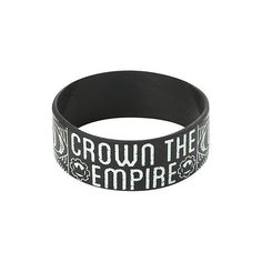 Crown The Empire Sketch Rubber Bracelet   Hot Topic ($1) ❤ liked on Polyvore featuring jewelry, bracelets, rubber bracelets, rubber bangles, rubber jewelry and crown jewelry