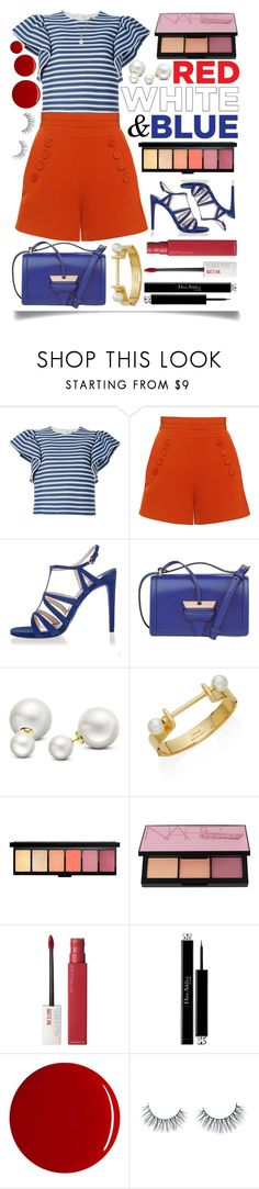 """4th Of July"" by ittie-kittie ❤ liked on Polyvore featuring MSGM, Finders Keepers, Prada, Loewe, Allurez, Chloé, NARS Cosmetics, Maybelline, Christian Dior and RGB"