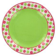 Bright Dots Dessert Plates