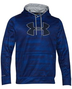 Under Armour Men's Storm Armour Big Logo Performance Printed Fleece Pullover Hoodie - Hoodies & Sweatshirts - Men - Macy's