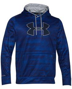Under Armour Men's Storm Armour Big Logo Performance Printed Fleece Pullover Hoodie - Hoodies & Sweatshirts - Men - Macy's