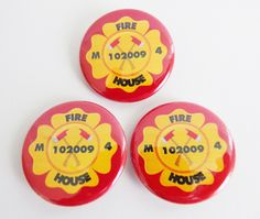 Firefighter Personalized Badge Buttons
