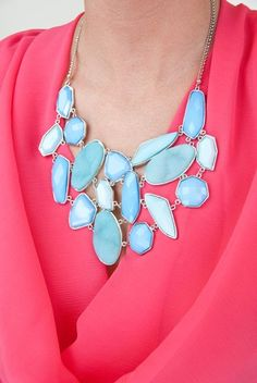 This baby blue stone statement is total neck candy. Add an instant pop to your look with this fierce statement piece.  $26.50