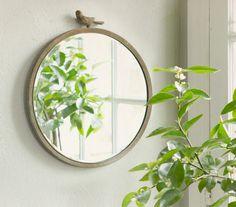 Terrain Antiqued Bird Mirror