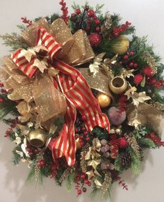 Elegant Red and Gold Wreath With Red Berries and Gold Fillers  Colours of Canterbury on Facebook