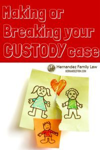 There are at least 11 factors that will make or break your child custody (legal decision-making) case. If you are going through a custody dispute in court, arm yourself with the information you need to know to increase the chances of having the judge order the plan that is in the best interests of your children. Find out what the factors are by clicking here: http://www.hernandezfirm.com/child-custody-case/  #childcustody #legaldecisionmaking #custody #custodydispute