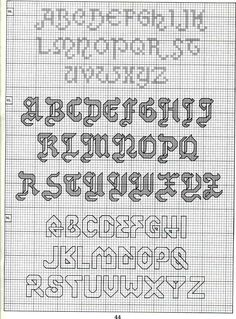 ♥ Korsstygns-Arkivet ♥: ALFABETET-KORSSTYGNSMÖNSTER