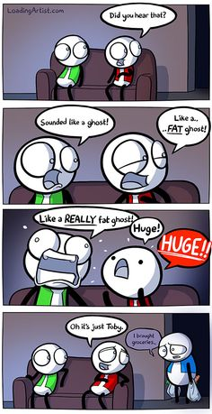 Hold me I'm scared. Click to view the full comic!