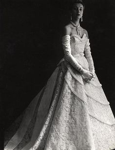 Pierre Balmain Vintage ... gown designed for royal ball, but would be a lovely design for a wedding dress.