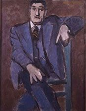 Adolph Gottlieb. 'Untitled (Portrait of Emil)'. Oil on canvas. 1934.