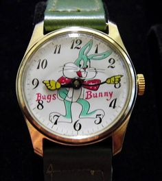 Vintage Bugs Bunny Character Watch, Manual-Wind, Swiss Made