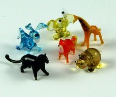 Glass animals from the county fair.
