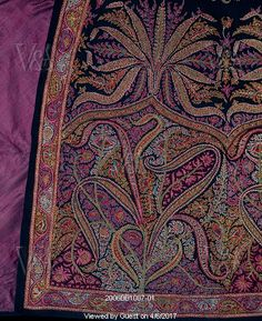Man's cloak. Kashmir, India. 1850-60. Cashmere embroidered with silk thread. V&A