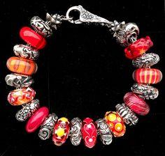 So in Love! Great Trollbeads bracelet design from a Trollbeads collector on Trollbeads Gallery Forum!!  Thank you Heather!